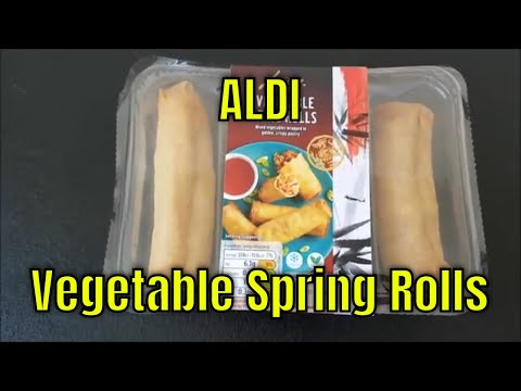 ALDI VEGETABLE SPRING ROLLS