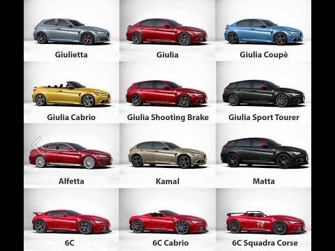 Alfa Romeo Giulia, Giulia Coupe, 6C And Other Models