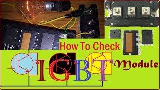 How to check IGBT Module | IGBT testing by Multimeter | IGBT Checking with Battery (in Hindi)