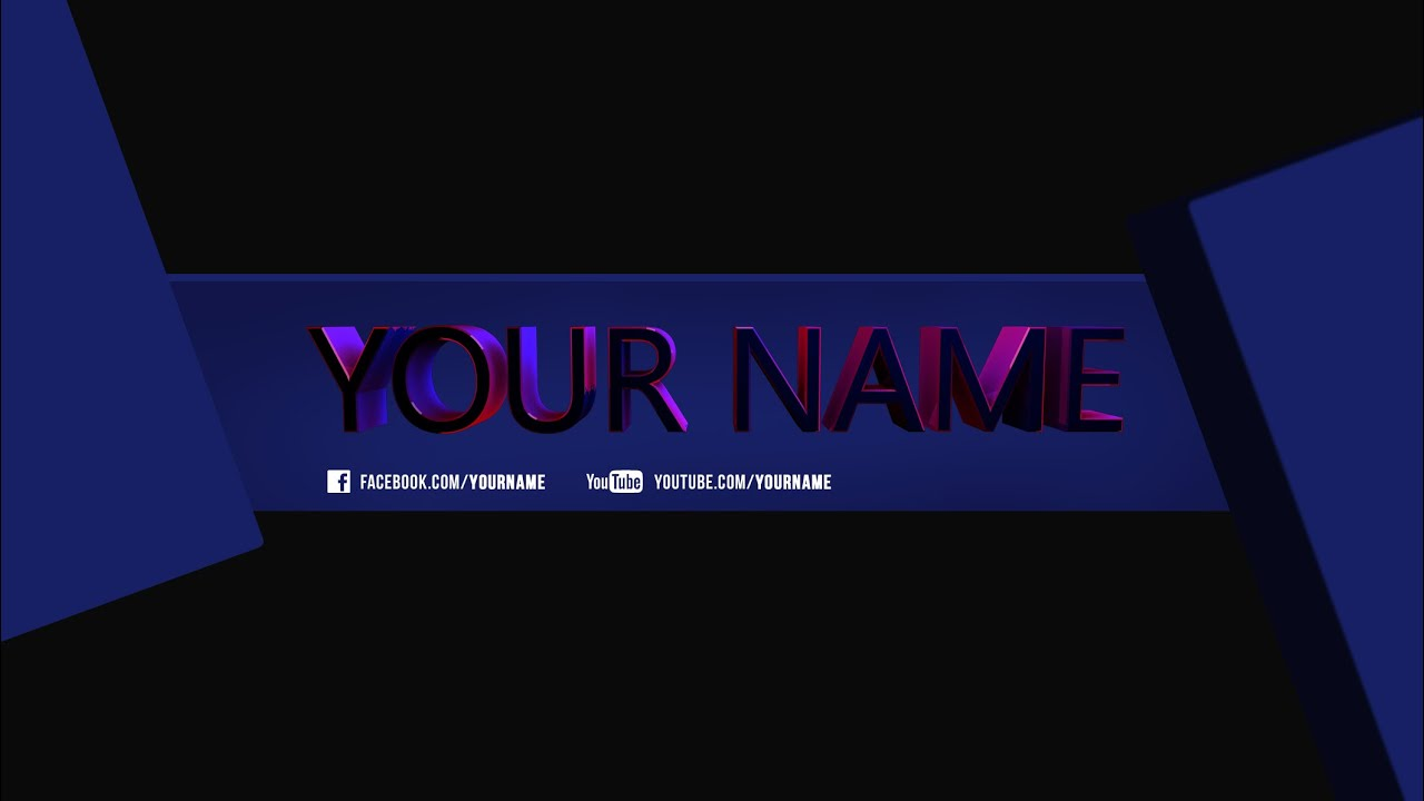 speedart cinema 4d photoshop 3d youtube banner template free