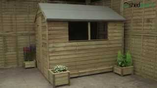 Shed-plus Overlap Pressure Treated Apex Shed
