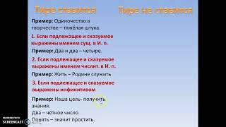 Тире между подлежащим и сказуемым (5 класс)