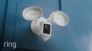 Ring Floodlight Cam Wired Pro   Advanced Outdoor Security   Next-Gen  Features & Bird's Eye View - YouTube
