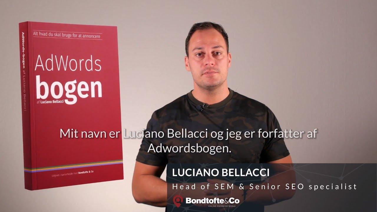 Lækker AdWords bog af Luciano Bellacci - Den komplette bog med nyt interface JU-65
