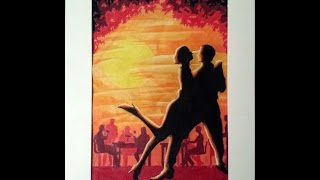 Dancing Couple Silhouette (That was your Mother) Speed Drawing