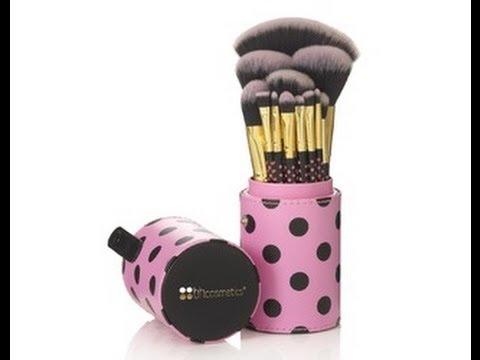 c4af120aa762 BhCosmetics Brush Set  Pink-A-Dot  11 pcs Brush Set - YouTube