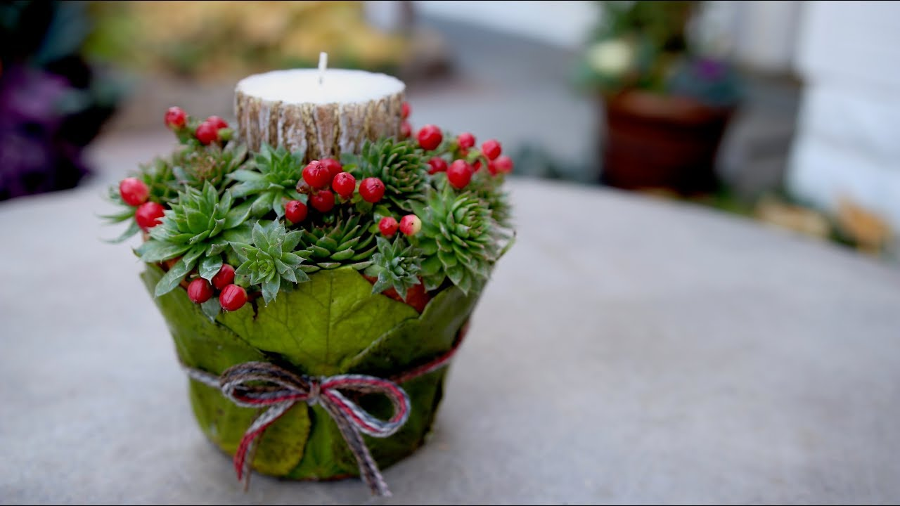 diy-leaf-wrapped-pot-candle-holder-garden-answer