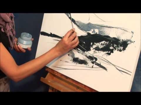 Landschaft malen mit LUKAS Acryl Farben und Strukturpasten (Teil 1)