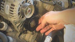 Broken idler pulley repair - bad bearing in tensioner pulley - Fixed