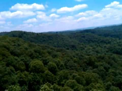 View of Appalachians from Beautiful Pinnacle Mountain State Park, WV