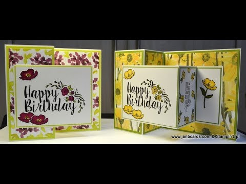 No.350 - Double Z Birthday Card - UK Stampin' Up!