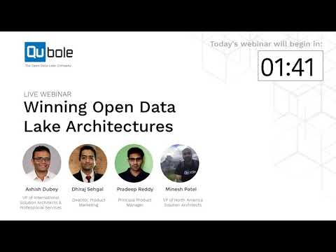 Winning Open Data Lake Architectures - Ad-hoc Analytics, Streaming Analytics & Machine Learning