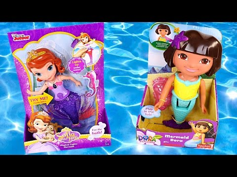 Mermaids Sofia The First + Color Changing Dora The Explorer Magical Treasure Hunt Iluminará Sirenas