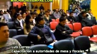 PASO: Capacitación a autoridades de mesa y fiscales - 26/7/13