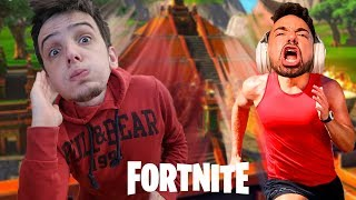 TENTEI FUGIR DO TEMPLO NO FORTNITE C/Tiagovski