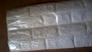 Flexible Stone Brick Wall Viny Wallpaper