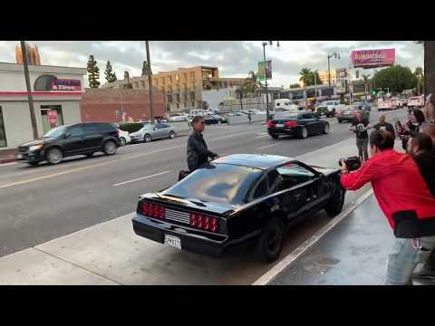 David Hasselhoff arrives in KITT car at Strange 80's 2