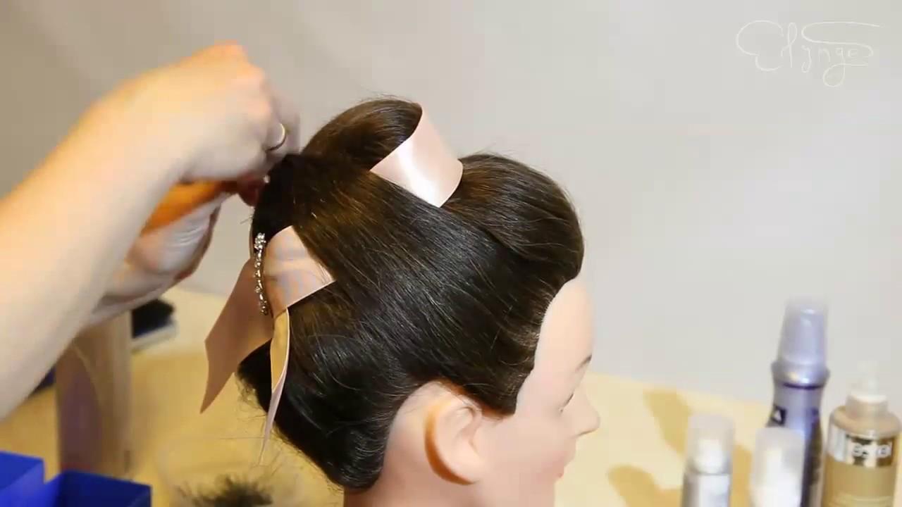 Прическа для средних волос в стиле 60х HD