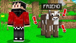 I Had NO IDEA My BEST FRIEND Was On My Minecraft World.. *FUNNY*
