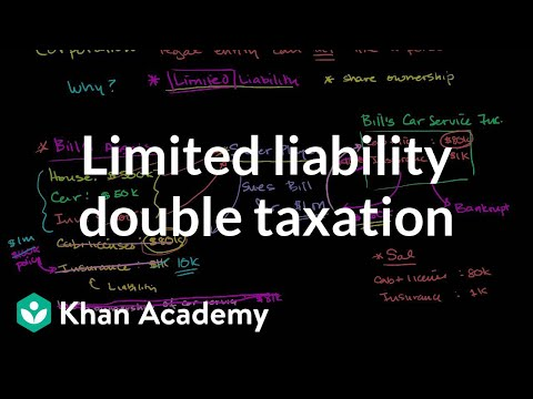 Is limited liability or double taxation fair? | Taxes | Finance & Capital Markets | Khan Academy
