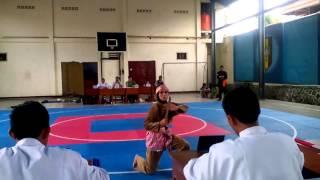 mutia qori muhika smp muh muntilan juara 1 seni bela diri putri o2sn kab magelang 2016