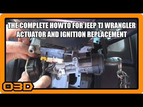 The BEST Jeep TJ Ignition Actuator Replacement Video EVAR!   Project 2004 Jeep Wrangler