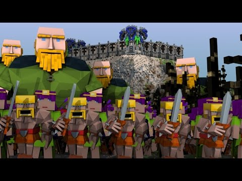 Minecrat | CLASH OF CLANS MOD Showcase! (Clash Of Clans, Barbarians, Giants)