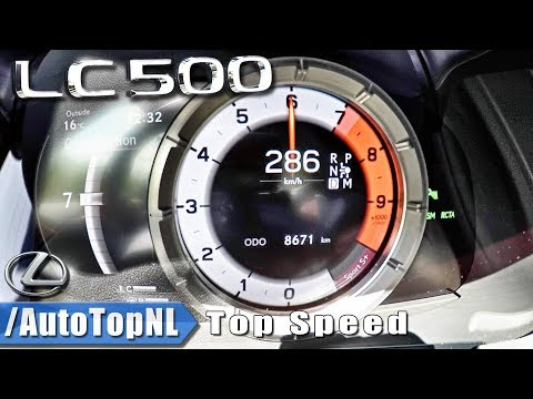 Lexus LC 500 5.0 V8 477HP | 0-286km/h ACCELERATION & TOP SPEED by AutoTopNL