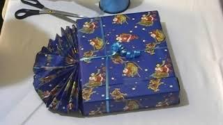 Weihnachtsgeschenke / Geschenke für Weihnachten richtig verpacken mit Fächer (Verpackung) Anleitung