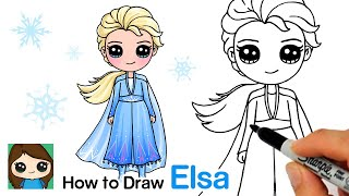 How to Draw Elsa | Disney Frozen 2