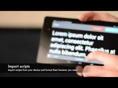 Teleprompter Pro for Android