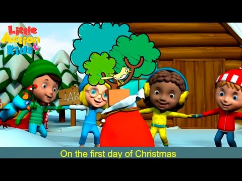 Twelve Days of Christmas with Lyrics | Kids Christmas Songs 2016