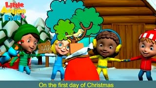 12 Days of Christmas Dance with Lyrics | Kids Christmas Dance Songs | Little Action Kids