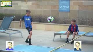 YOUNG RONALDO FOOTBALL/SOCCER TENNIS CHALLENGE!!! KICKIN COUSINS