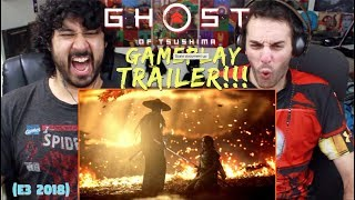 GHOST OF TSUSHIMA - E3 2018 GAMEPLAY TRAILER - REACTION & REVIEW!!!