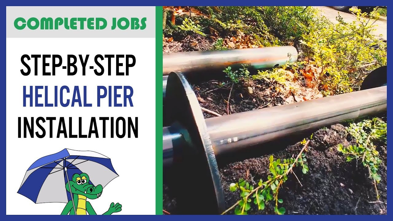 🐊Helical Piers for Foundation Repair? How to Install + Homeowner Tips