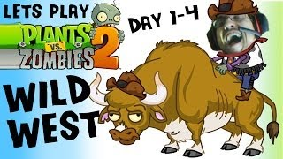 Lets Play Plants vs. Zombies 2: YEE HAW, Wild West Here I Come! (iOS Face Cam Day 1 2 3 4 Gameplay)