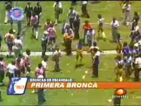 AMERICA aguilas - GUADALAJARA chivas  pelea 1983
