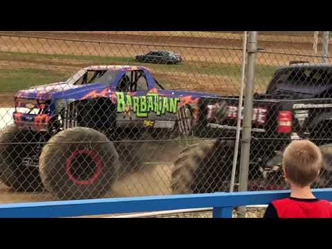 Monster Truck Invasion (Union, Kentucky 2019) Intro to the Trucks and Drivers, National Anthem