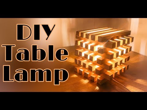 Diy Night Lamp How To Make Night Table Lamp With Wood Easy