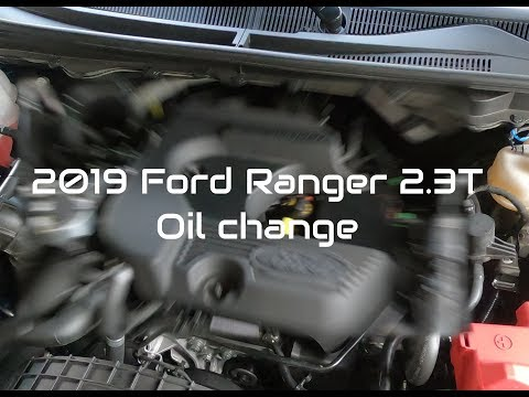 2019 Ford Ranger Oil Change