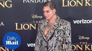 Beyonce stuns in bejeweled blazer on 'Lion King' red carpet