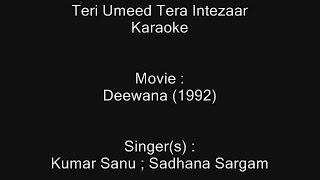 Teri Umeed Tera Intezaar - Karaoke - Deewana (1992) - Kumar Sanu ; Sadhana Sargam