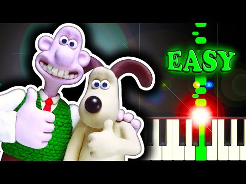 WALLACE AND GROMIT THEME - A GRAND DAY OUT - Piano Tutorial