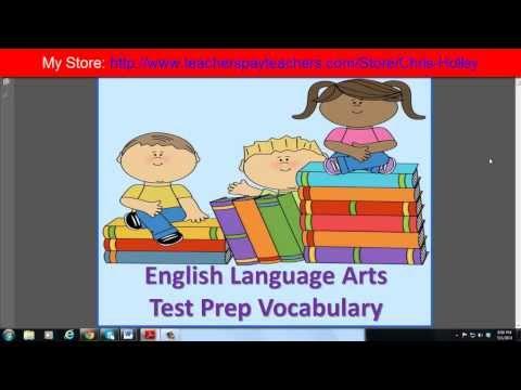 ELA Test Prep Vocabulary Flash Cards Preview