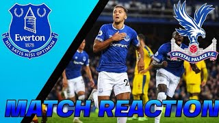 Everton 2 Crystal Palace 0 LATE WIN MATCH REACTION