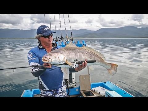 Huge Black Jewfish on a Fishing Combo!