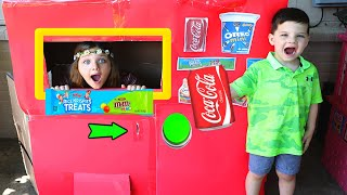Caleb PRETEND PLAY w/ Vending Machine KIDS TOY STORY!