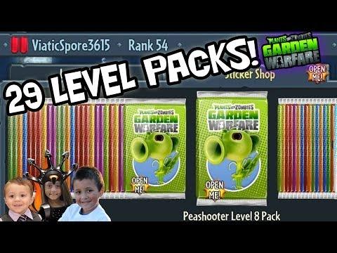 29 LEVEL PACK OPENINGS! Plants vs. Zombies Garden Warfare *MONEY EXPLOIT* Almost 100%