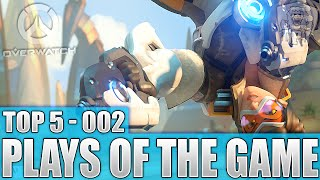 Overwatch - Insane Top 5 Plays Of The Game / Episode 2 (Play Of The Game Clips)